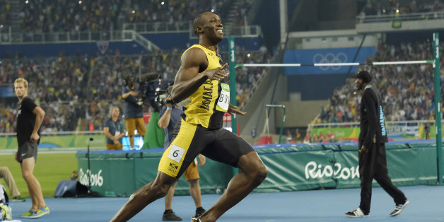 2016 Rio Olympics - Athletics - Semifinal - Men's 100m Semifinals - Olympic Stadium - Rio de Janeiro, Brazil - 14/08/2016. Usain Bolt (JAM) of Jamaica reacts. REUTERS/Rickey Rogers FOR EDITORIAL USE ONLY. NOT FOR SALE FOR MARKETING OR ADVERTISING CAMPAIGNS.