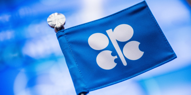 An OPEC branded flag sits on a table ahead of the 169th Organization of Petroleum Exporting Countries (OPEC) meeting in Vienna, Austria, on Thursday, June 2, 2016. Saudi Arabia is ready to consider a surprise deal with fellow OPEC members, attempting to mend divisions that had grown so wide many dubbed the group as good as dead. Photographer: Akos Stiller/Bloomberg via Getty Images