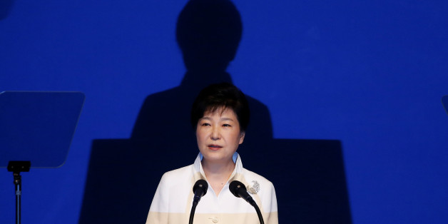 South Korean President Park Geun-hye delivers a speech during a ceremony marking the 71st anniversary of liberation from Japan's 1910-45 colonial rule, following the end of World War Two, on Liberation Day in Seoul, South Korea, August 15, 2016.  REUTERS/Kim Hong-Ji
