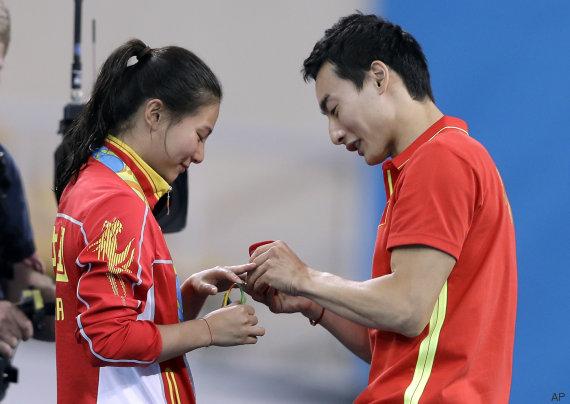 peticion matrimonio en los juegos olimpicos