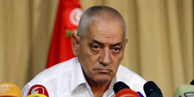 Secretary General of the Tunisian General Labour Union (UGTT) Houcine Abassi speaks during a news conference in Tunis September 21, 2013. Tunisia's opposition coalition agreed on Friday to start direct talks with ruling Islamists on a transition plan under which the government would step down and make way for a caretaker administration and new elections. The agreement follows weeks of unrest that erupted after the assassination of an opposition figure in July. REUTERS/Anis Mili (TUNISIA - Tags: POLITICS)