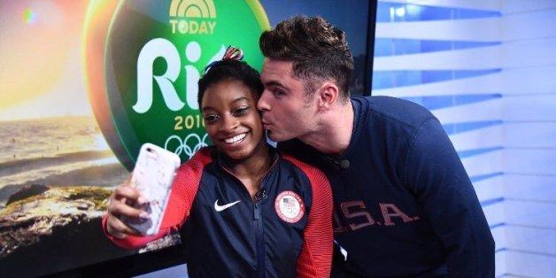 La gymnaste américaine Simone Biles a finalement rencontré son idole Zac Efron aux Jeux olympiques de Rio (PHOTOS)