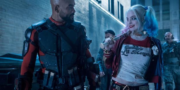 """Deathshot (<a href=""""http://www.isnottv.com/cast/0000226"""" target=""""_blank"""">Will Smith</a>) und Harly Quinn (<a href=""""http://www.isnottv.com/cast/3053338"""" target=""""_blank"""">Margot Robbie</a>) als Superschurken mit Heldenpotential? <a href=""""http://www.isnottv.com/movie/suicide-squad-2016"""" target=""""_blank"""">Suicide Suad</a> ist ab dieser Woche neu im Kino! (Foto: Warner Bros. Studios)"""