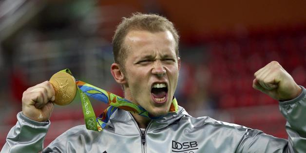 Der deutsche Turner Fabian Hambüchen hat Olympia-Gold gewonnen