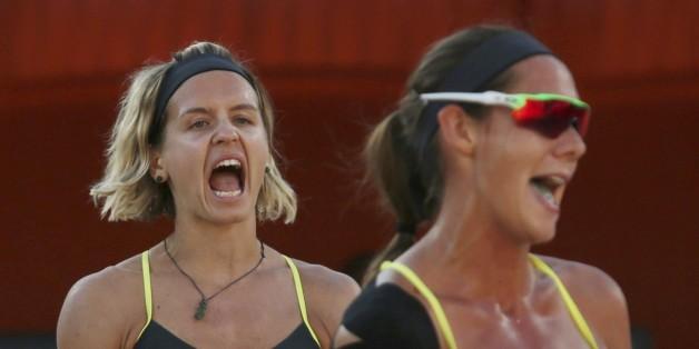 Laura Ludwig und Kira Walkenhorst: Die Beachvolleyballerinnen wollen eine Olympia-Medaille erkämpfen