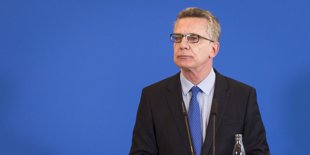 Bundesinnenminister Thomas de Maizière bei einer Pressekonferenz