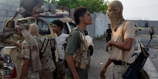 Des membres des forces de sécurité yéménites à Aden, le 16 août 2016  © AFP SALEH AL-OBEIDI