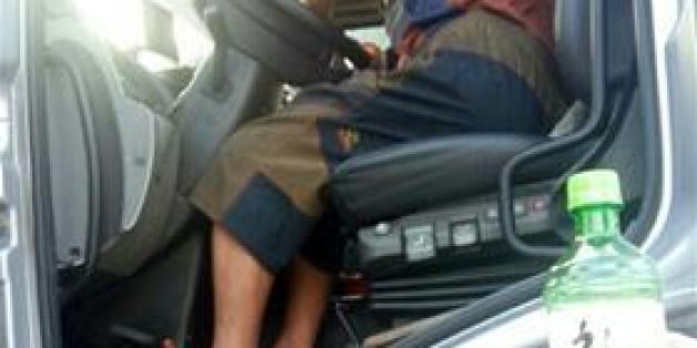 적발 당시 차 안에서 발견된 소주병