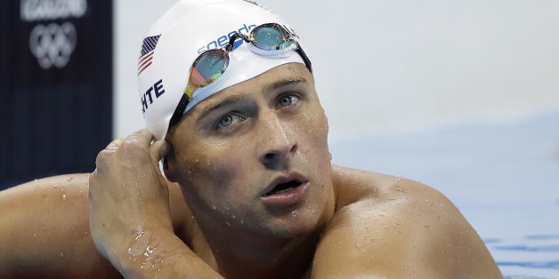 FILE - In this Tuesday, Aug. 9, 2016, file photo, United States' Ryan Lochte checks his time in a men's 4x200-meter freestyle heat during the swimming competitions at the 2016 Summer Olympics, in Rio de Janeiro, Brazil. Add two fresh entries to the increasingly popular genre of non-apology apologies. In a span of 15 hours, politician Donald Trump and Lochte both coughed up carefully crafted words of contrition, each without fully owning up to exactly what he'd done wrong. (AP Photo/Michael