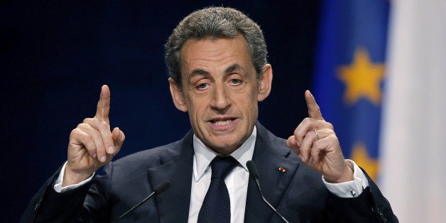 Former president and current head of the Les Republicains political party Nicolas Sarkozy, delivers a speech during a political rally as he campaigns for the upcoming regional elections in Schiltigheim near Strasbourg, France, November 25, 2015. REUTERS/Vincent Kessler      TPX IMAGES OF THE DAY