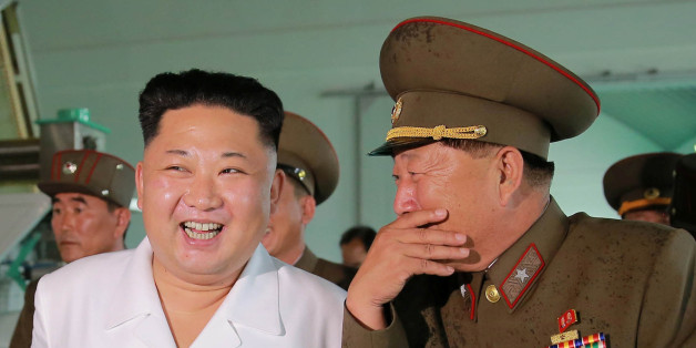 North Korean leader Kim Jong Un visits a Fish Food Factory run by KPA Unit 810, in this undated photo released by North Korea's Korean Central News Agency (KCNA), July 24, 2016. KCNA/ via REUTERS  ATTENTION EDITORS - THIS PICTURE WAS PROVIDED BY A THIRD PARTY. REUTERS IS UNABLE TO INDEPENDENTLY VERIFY THE AUTHENTICITY, CONTENT, LOCATION OR DATE OF THIS IMAGE. FOR EDITORIAL USE ONLY. NOT FOR SALE FOR MARKETING OR ADVERTISING CAMPAIGNS. NO THIRD PARTY SALES. NOT FOR USE BY REUTERS THIRD PARTY DIST