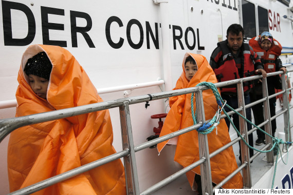 refugees sea greece