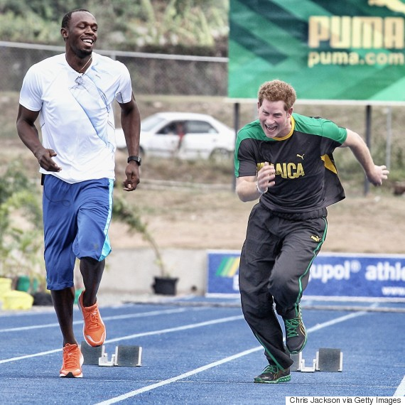 usain bolt prince harry