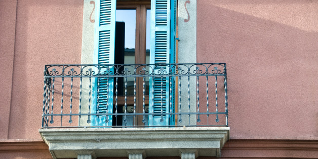 Balcony on building in Spain