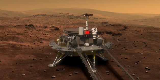 Erste Bilder des neuen Mars Rovers aus China