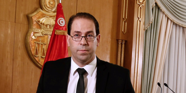 Tunisia's Prime Minister-designate Youssef Chahed leaves after a news conference in Tunis,Tunisia,  August 20, 2016. Picture taken August 20, 2016. REUTERS/Zoubeir Souissi