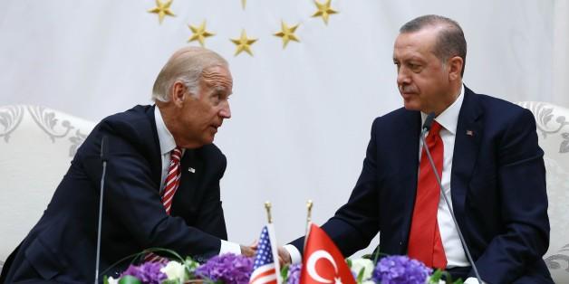 Joe Biden bei seinem Besuch in Ankara