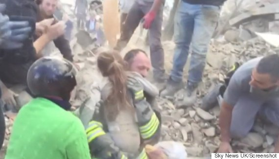girl rescued italy earthquake