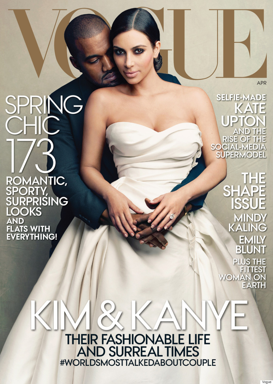 kanye west and kim kardashian vogue