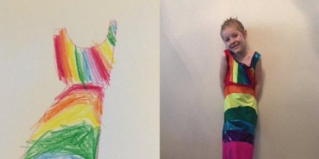 Kinder können ihre Kleider ab sofort selbst zeichnen.