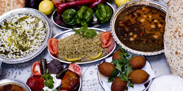 traditional foods on table