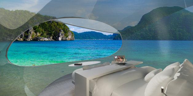 """In """"Driftscapes"""" könnten Hotelbesucher selbstständig über ausgewählte Reiseziele schweben"""