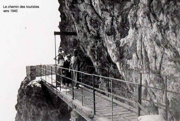 chemin des touristes en 1940