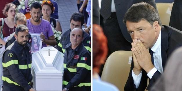 """Trauerfeier für Erdbebenopfer in Italien: """"Ciao, Mama wird dich immer lieben"""""""