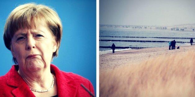 Sogar Merkel mag Vorpommern nicht.