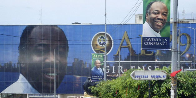 A giant poster of Ali Ben Bongo, the ruling party candidate and son of the former president, is seen in the capital Libreville, August 23, 2009. The winner of Gabon's August 30 presidential election will have to tackle a stretched budget and an oil economy in long-term decline, but international partners are unlikely to see a shift from investor-friendly policies. None of the candidates standing to succeed Omar Bongo, who towered over the central west African state for four decades until he died
