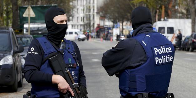 Polizisten in Brüssel.