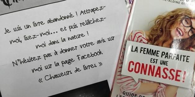 Aveline Grégoire a créé un nouveau concept: la chasse aux livres.