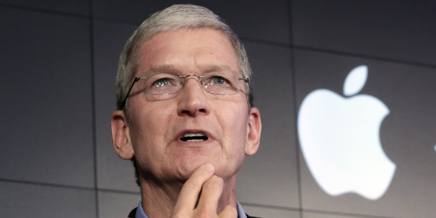 FILE - In this April 30, 2015 file photo, Apple CEO Tim Cook responds to a question during a news conference at IBM Watson headquarters, in New York. The dispute over whether Apple must help the FBI hack into a terror suspect's iPhone is about to play out in a Southern California courtroom. The hearing Tuesday, March 22, in U.S. District Court in Riverside is the first in the battle that has seen Cook and FBI Director James Comey spar over issues of privacy and national security. (AP Photo/Richa