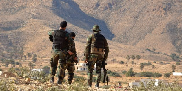 Special forces from the Tunisian National Guard take part in a security sweep in the mountainous Tounine area, some 30 kilometres (20 miles) south of the coastal town of Gabes, on February 2, 2016.Tunisian forces have killed three suspected jihadists during an ongoing operation in the Gabes region in which one of their men was wounded, the interior ministry said. / AFP / FATHI NASRI        (Photo credit should read FATHI NASRI/AFP/Getty Images)