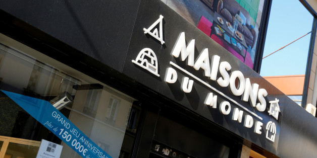 The logo of French furniture and interior decoration company Maisons du Monde is seen on the facade of a store in Paris, France, April 19, 2016 as Maisons du Monde could proceed to capital increase of about 150 to 180 million euro in IPO.  REUTERS/Jacky Naegelen