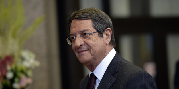 Cyprus' President Nicos Anastasiades leaves after the first day of an EU - Summit at the EU headquarters in Brussels on June 28, 2016. European Union leaders will on June 29, 2016 assess the damage from Britain's decision to leave the bloc and try to prevent further disintegration, as they meet for the first time without a British representative. / AFP / THIERRY CHARLIER        (Photo credit should read THIERRY CHARLIER/AFP/Getty Images)