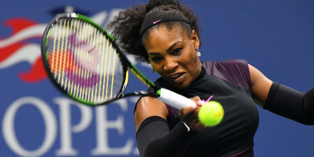 Serena Williams in ihrem ersten Match bei den US Open 2016