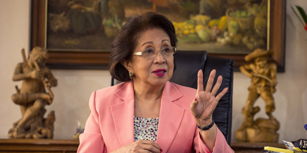 This picture taken on August 23, 2016 shows Philippine Ombudsman Conchita Carpio-Morales gesturing during an interview at the Office of the Ombudsman in Manila.After four decades in the country's notoriously corrupt judiciary, Morales was looking forward to retirement when former president Benigno Aquino asked her to head a special body to prosecute corrupt officials as part of his centrepiece anti-graft crusade. On August 31, her 'moral courage and commitment to justice in taking head-on one of