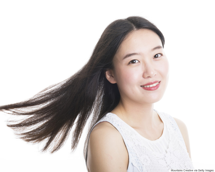 asian woman hair