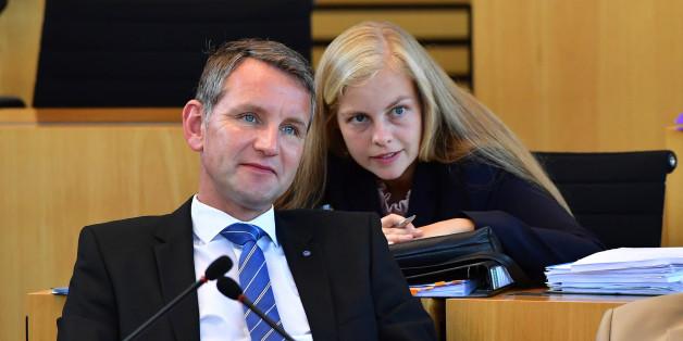 Die AfD-Abgeordnete Wiebke Muhsal trat vollverschleiert im Thüringer Landtag auf