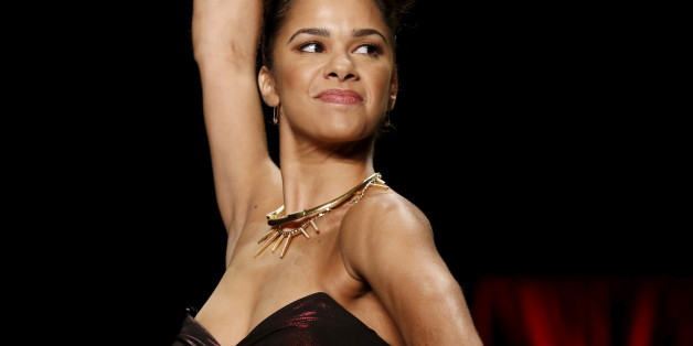 Misty Copeland presents a creation during the American Heart Association's (AHA) Go Red For Women Red Dress Collection, presented by Macy's at New York Fashion Week February 11, 2016. REUTERS/Andrew Kelly