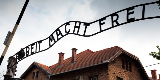 Entrance sign at Auschwitz