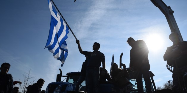 In this Thursday, Jan. 28, 2016, file photo a protesting farmer waves a Greek flag during a rally in the northern Greek city of Thessaloniki. Combine a rapidly aging population, a depleted work force and leaky finances and any country's pension system would be in trouble. For debt-hobbled, unemployment-plagued Greece, it's a nightmare.(AP Photo/Giannis Papanikos)