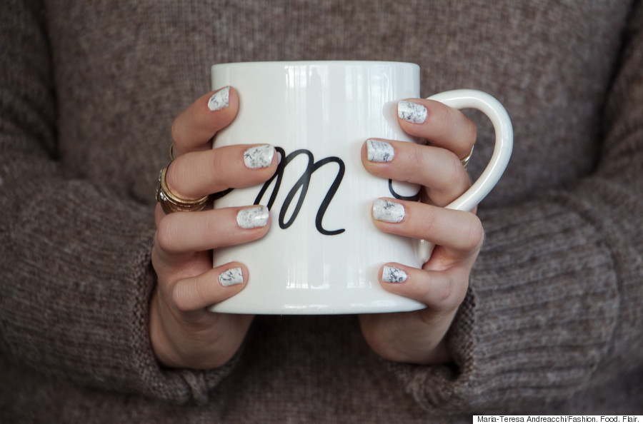 Marble Nail Art Get A Perfect Marble Mani Right At Home Huffpost