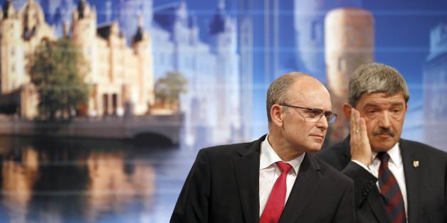 Stehen am 4. September zur Wahl: Lorenz Caffier (CDU) und Erwin Sellering (SPD), Ministerpräsident von Mecklenburg-Vorpommern