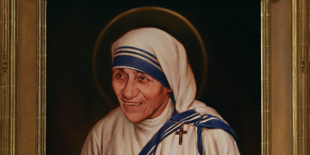 WASHINGTON, DC - SEPTEMBER 01: The official canonization portrait of Mother Teresa, is unvieled during ceremony at The Saint John Paul II National Shrine, September 1, 2016 in Washington, DC. Mother Teresa was a Albanian nun who founded the Missionaries of Charity religious order to care for the poor in India and around the world. On Sunday Pope Francis will hold a canonization Mass for Mother Teresa at the Vatican.  (Photo by Mark Wilson/Getty Images)