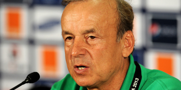 Niger national team head coach Gernot Rohr attends a press conference at Nelson Mandela Bay Stadium in Port Elizabeth on January 26, 2013, two days before a 2013 African Cup of Nations Group B football match against Ghana. AFP PHOTO / STEPHANE DE SAKUTIN        (Photo credit should read STEPHANE DE SAKUTIN/AFP/Getty Images)