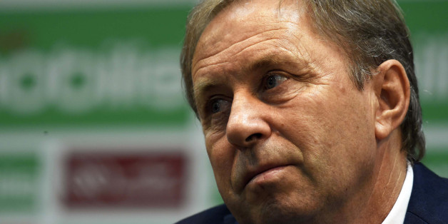 Serbian Milovan Rajevac, the newly appointed Algerian football team coach and former professional player, speaks on July 14, 2016 during a press conference at the Olympic complex Mohamed-Boudiaf in Algiers, following his nomination for the new post. / AFP / Farouk Batiche        (Photo credit should read FAROUK BATICHE/AFP/Getty Images)