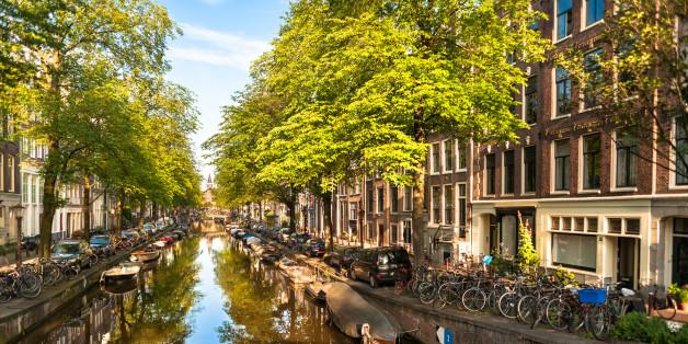 Summer Morning on Amsterdam Bloemgracht Canal