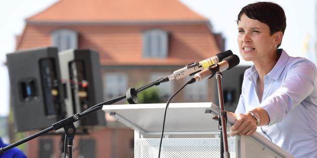 AfD-Chefin Frauke Petry bei einer Wahlkampfveranstaltung in Mecklenburg-Vorpommern